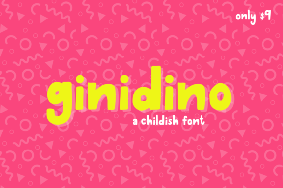 Print on Demand: Ginidino Sans Serif Font By Salt & Pepper Designs