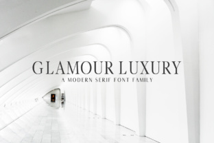 Print on Demand: Glamour Luxury Family Serif Font By Creative Tacos