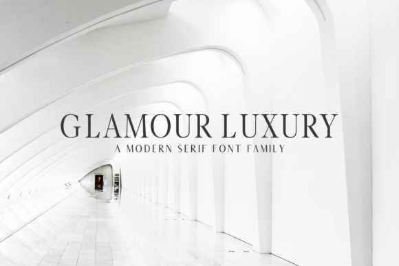 Print on Demand: Glamour Luxury Family Serif Font By Creative Tacos - Image 1