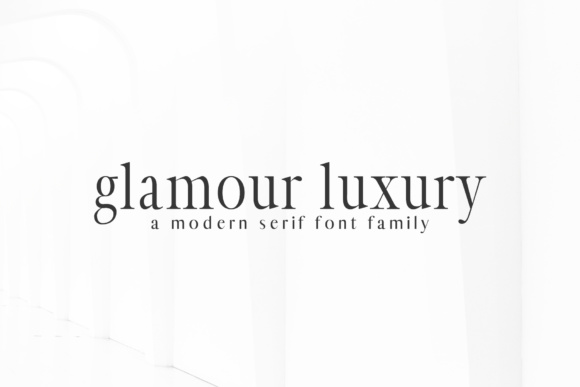 Print on Demand: Glamour Luxury Family Serif Font By Creative Tacos - Image 8