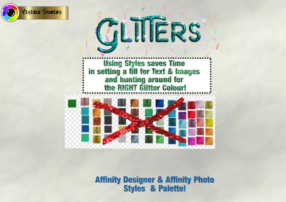 Print on Demand: Glitters Designers Kit for Affinity Photo & Affinity Designer Graphic Actions & Presets By Angela H. Evans - Image 2