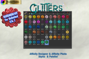 Download Free Glitters Designers Kit For Affinity Photo Affinity Designer for Cricut Explore, Silhouette and other cutting machines.