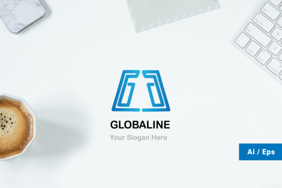 Global Line Logo Graphic Print Templates By TMint - Image 1