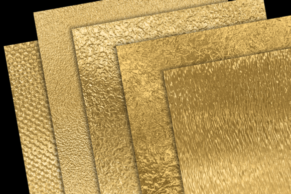 Print on Demand: Gold Foils Mix Graphic Textures By JulieCampbellDesigns - Image 3