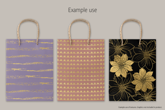 Print on Demand: Gold Foils Mix Graphic Textures By JulieCampbellDesigns - Image 6