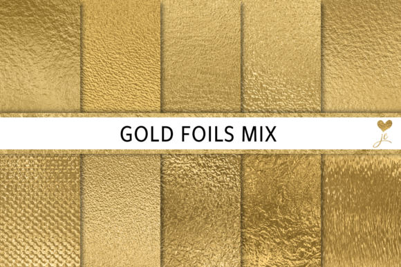 Print on Demand: Gold Foils Mix Graphic Textures By JulieCampbellDesigns