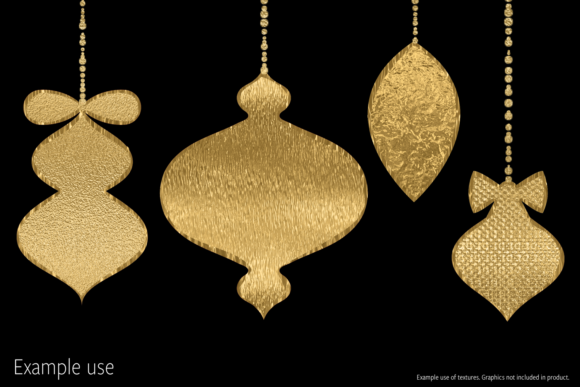 Print on Demand: Gold Foils Mix Graphic Textures By JulieCampbellDesigns - Image 7