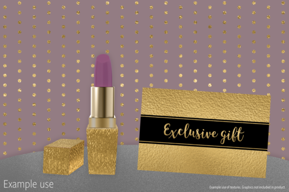 Print on Demand: Gold Foils Mix Graphic Textures By JulieCampbellDesigns - Image 9