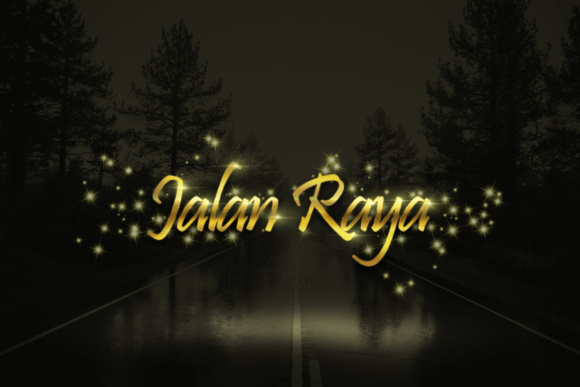 Gold Sparkling Text Effect