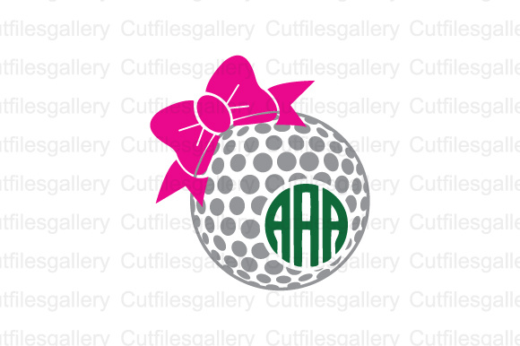 Download Free Golf Ball Bow Cut File Graphic By Cutfilesgallery Creative Fabrica for Cricut Explore, Silhouette and other cutting machines.