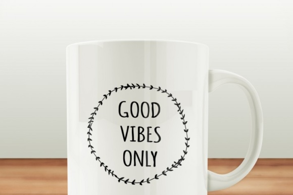 Good Vibes Only Fun Graphic Crafts By BlackCatsMedia - Image 2