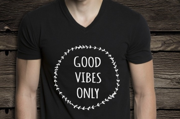 Good Vibes Only Fun Graphic Crafts By BlackCatsMedia - Image 3