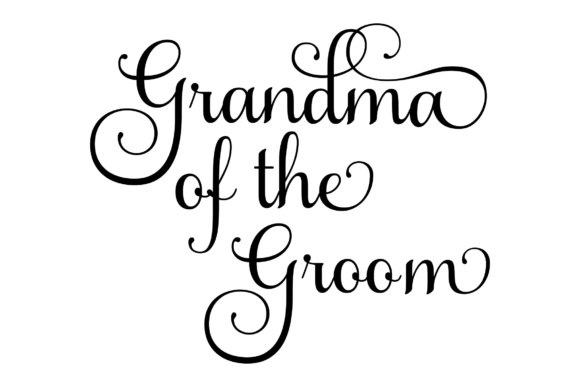 Download Free Grandma Of The Groom Svg Graphic By Studio 26 Design Co for Cricut Explore, Silhouette and other cutting machines.