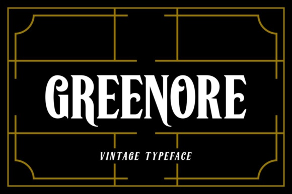 Print on Demand: Greenore Display Font By Fontdation