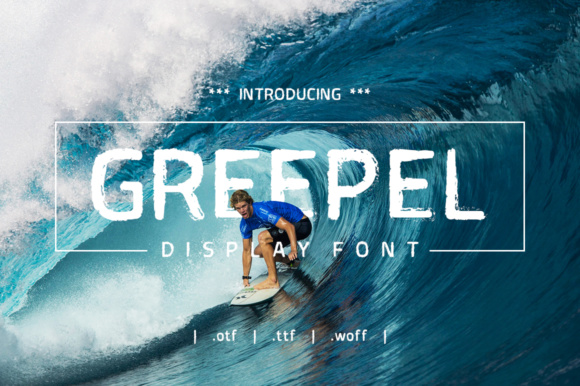 Print on Demand: Greepel Display Font By yantodesign - Image 1