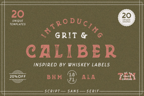 Print on Demand: Grit & Caliber Serif Font By 1871 Project