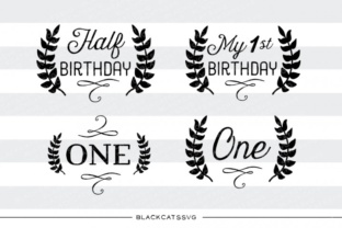 Download Free Half Birthday Milestone Svg Graphic By Blackcatsmedia Creative for Cricut Explore, Silhouette and other cutting machines.