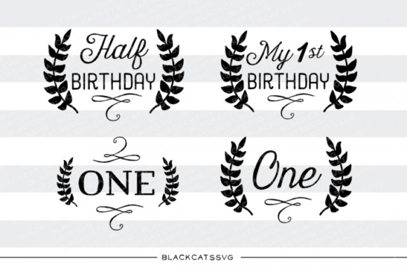 Half Birthday Milestone Svg Graphic Crafts By BlackCatsMedia