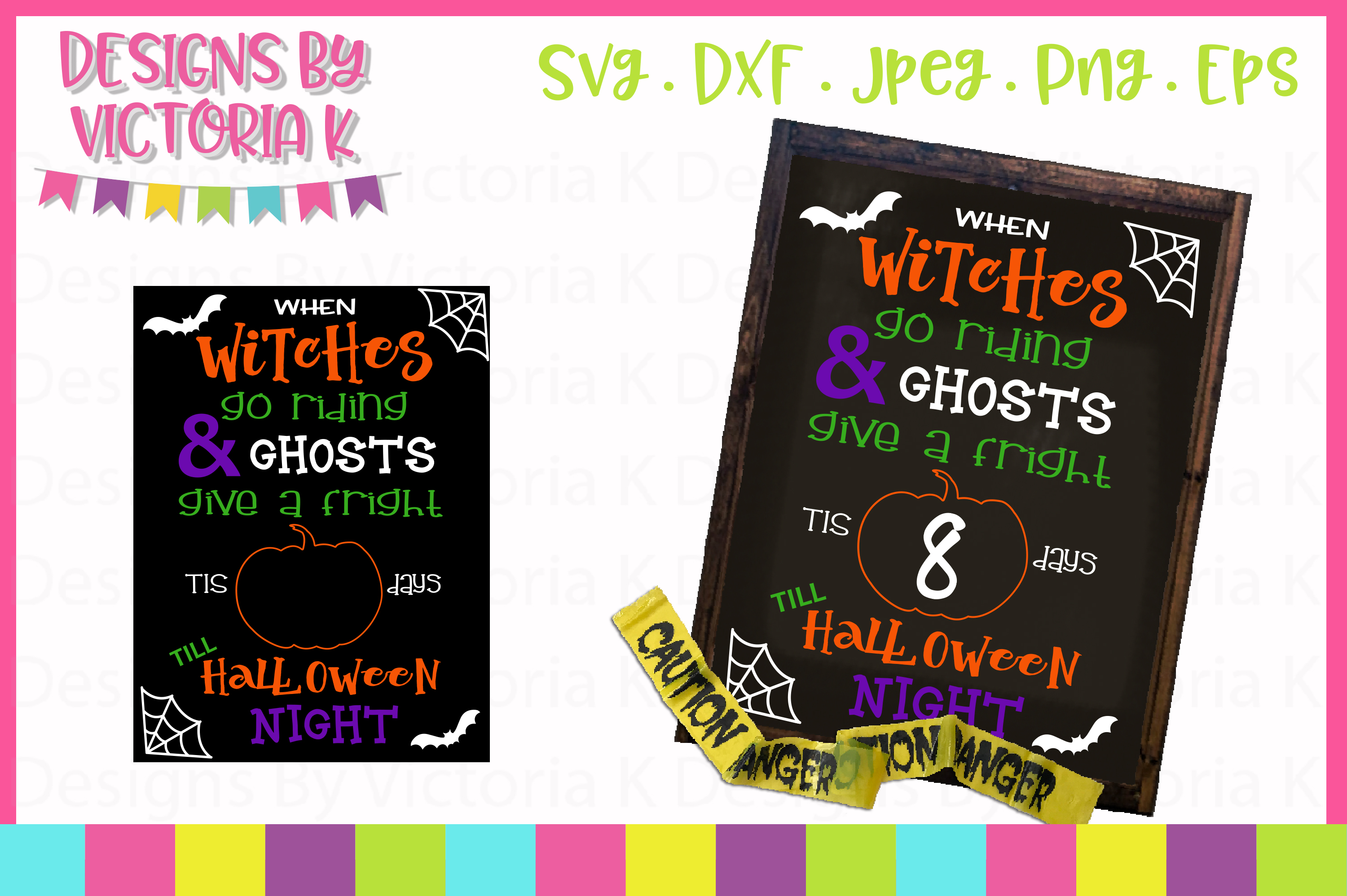 Download Free Halloween Countdown Chalkboard Design Svg Graphic By Designs By for Cricut Explore, Silhouette and other cutting machines.