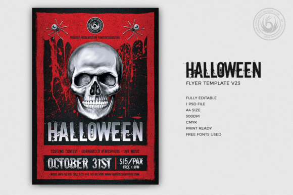 Halloween Flyer Template Graphic Print Templates By ThatsDesignStore - Image 2