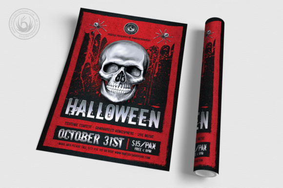 Halloween Flyer Template Graphic Print Templates By ThatsDesignStore - Image 3