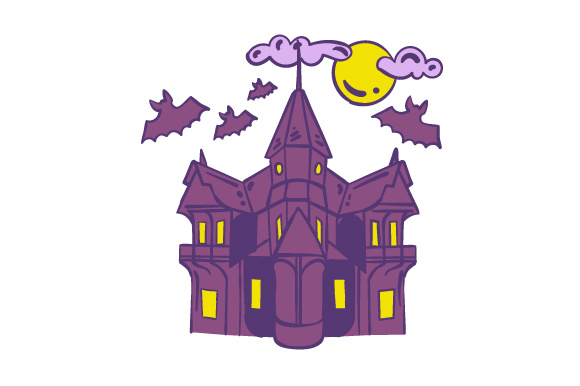 Download Free Halloween Haunted House Svg Cut File By Creative Fabrica Crafts for Cricut Explore, Silhouette and other cutting machines.