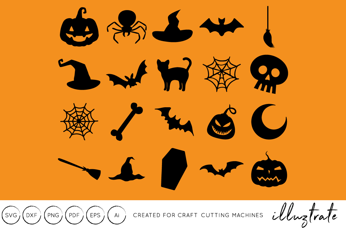 Download Free Halloween Cut File Grafik Von Illuztrate Creative Fabrica for Cricut Explore, Silhouette and other cutting machines.