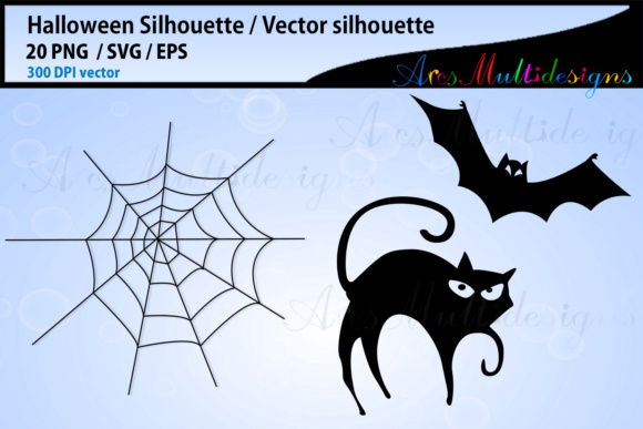 Print on Demand: Halloween SVG Silhouette Graphic Illustrations By Arcs Multidesigns - Image 2