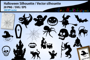 Print on Demand: Halloween Silhouette Graphic Illustrations By Arcs Multidesigns