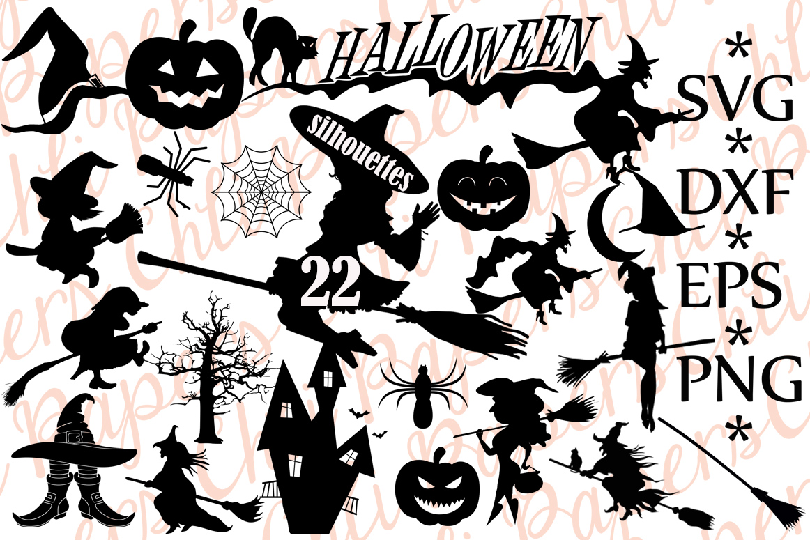 Halloween Silhouette Bundle Graphic By Chilipapers Creative