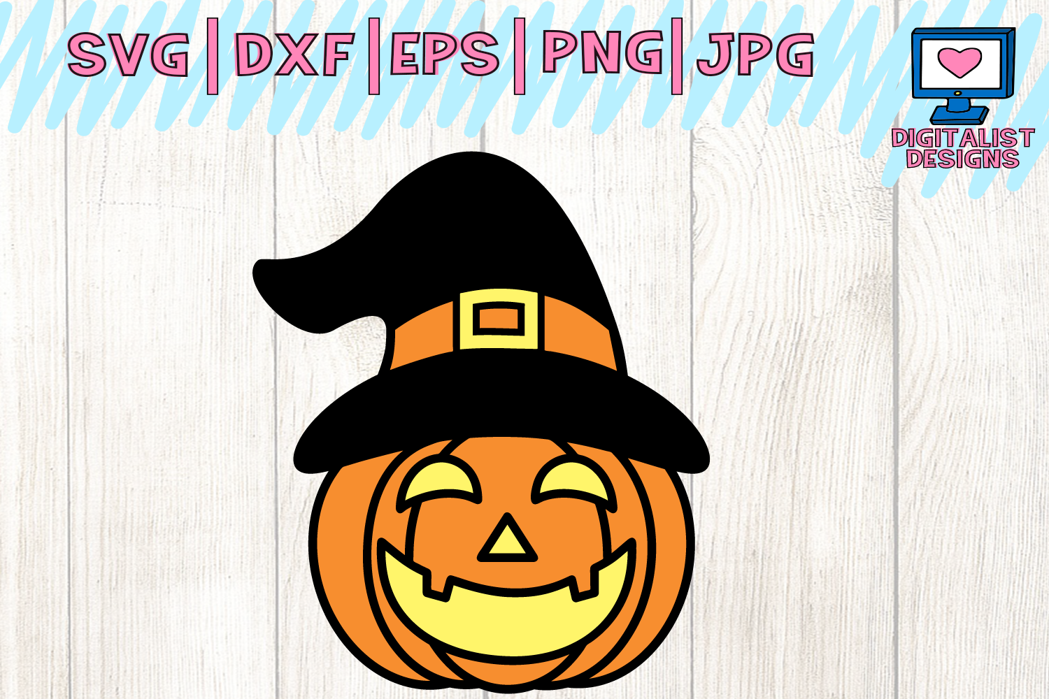 Download Free Halloween Pumpkin Fall Witch Jack O Lantern Svg Graphic By for Cricut Explore, Silhouette and other cutting machines.