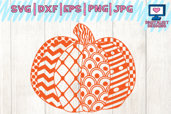 Halloween pumpkin fall zentangle pattern svg Graphic by Mesmerizing Zentangle Pattern