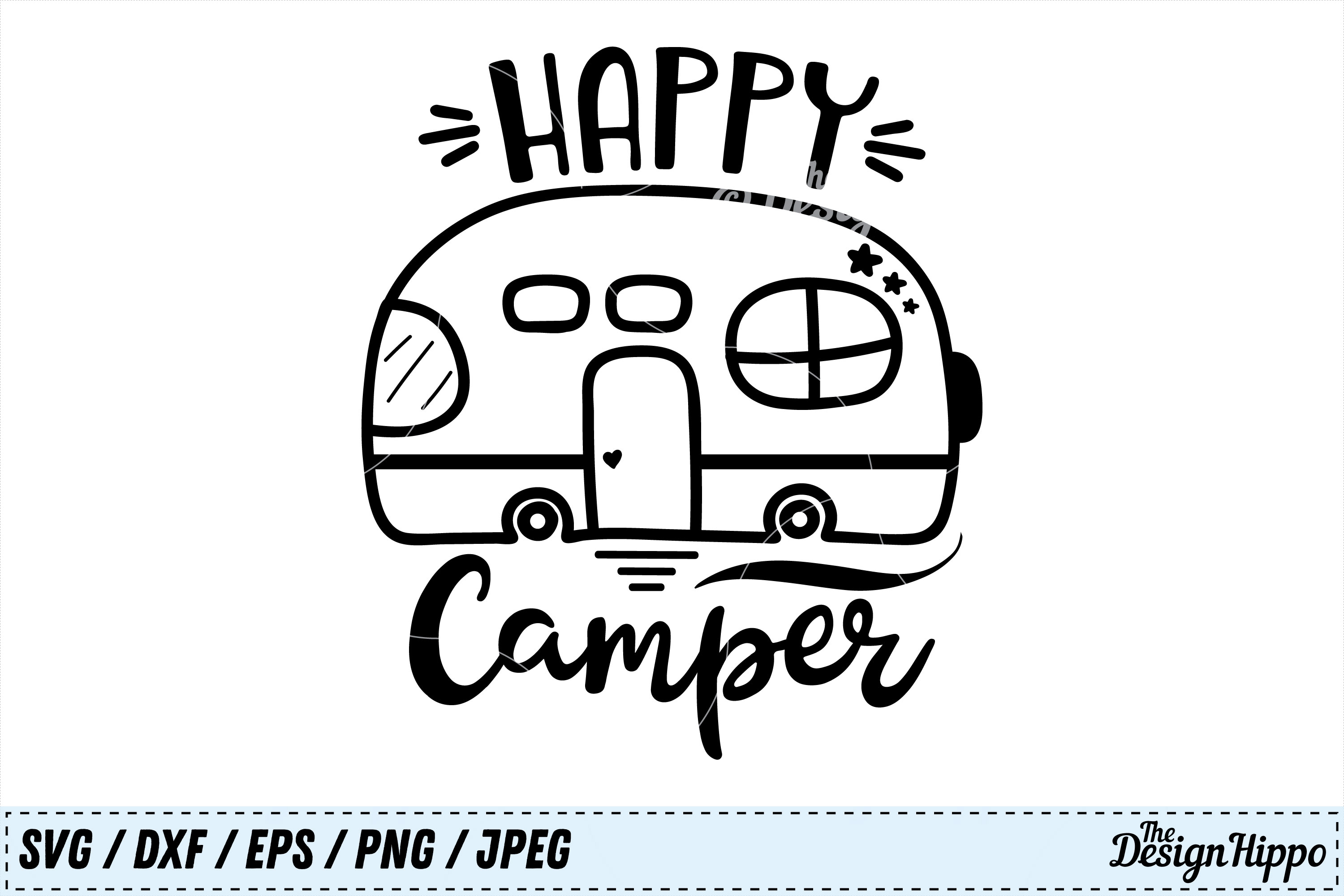 Happy Camper Graphic By Thedesignhippo Creative Fabrica