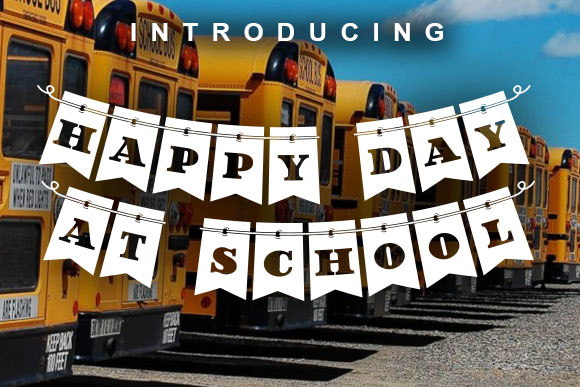 Print on Demand: Happy Day at School Decorative Font By vladimirnikolic