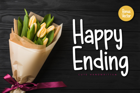Print on Demand: Happy Ending Script & Handwritten Font By Kang1993