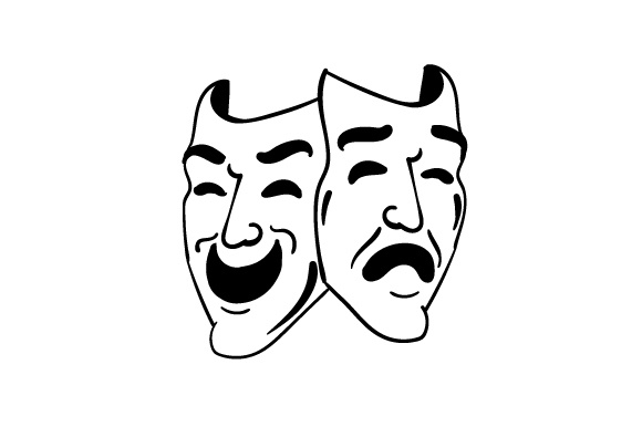 Happy Sad Theatre Masks Svg Cut File By Creative Fabrica Crafts