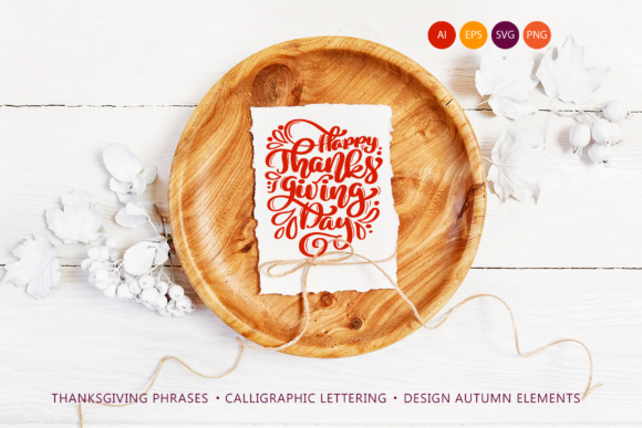 Happy Thanksgiving Vector Pack Grafik Illustrationen von Happy Letters