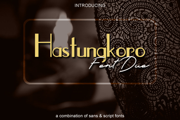 Print on Demand: Hastungkoro Duo Script & Handwritten Font By SOFDesign
