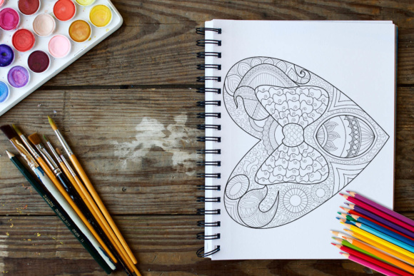 Hearts Coloring Book - 30 Love Coloring Pages