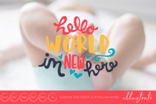 Download Free Hello World I M New Here Svg Cut File Graphic By Illuztrate for Cricut Explore, Silhouette and other cutting machines.