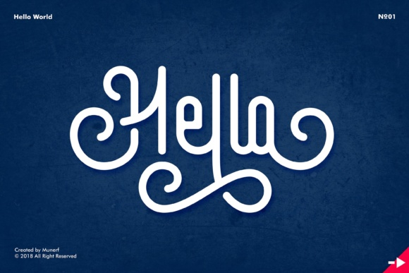 Print on Demand: Hello World Display Font By Munerf - Image 2