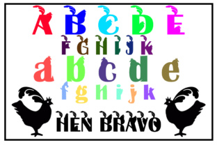Hen Bravo Font By Boombage