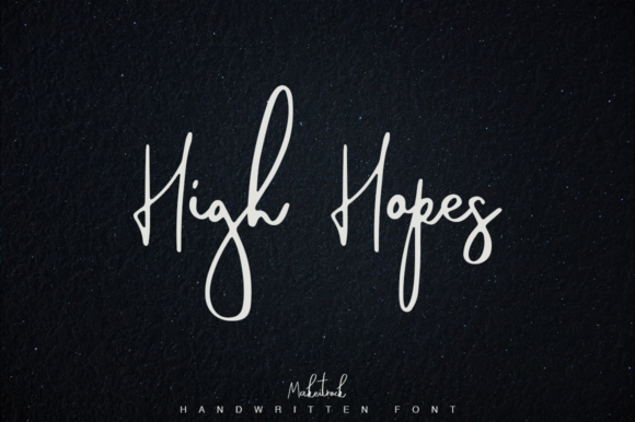 Print on Demand: High Hopes Script & Handwritten Font By Katie Holland
