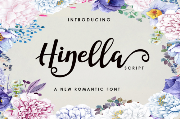 Print on Demand: Hinella Script Script & Handwritten Font By akifatype