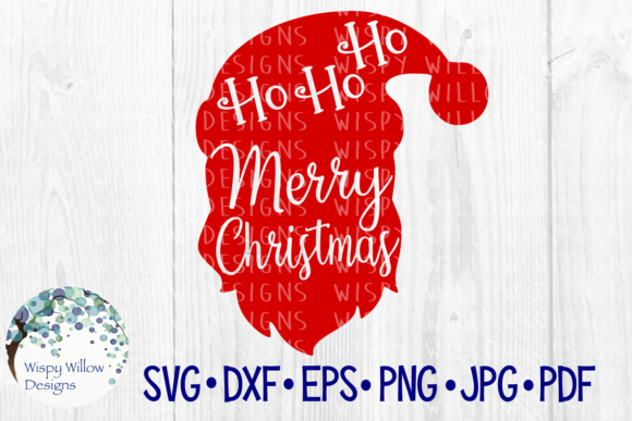 Download Free Ho Ho Ho Merry Christmas Graphic By Wispywillowdesigns SVG Cut Files