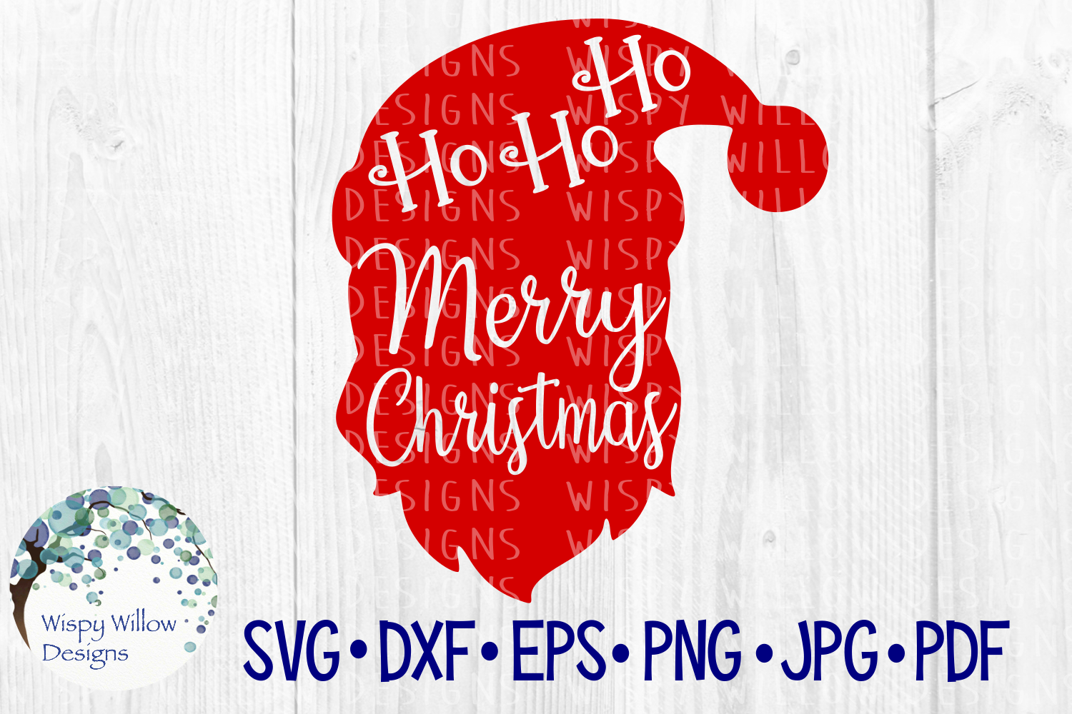 Ho Ho Ho Merry Christmas Graphic By Wispywillowdesigns