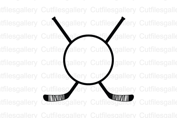 Download Free Hockey Monogram Graphic By Cutfilesgallery Creative Fabrica for Cricut Explore, Silhouette and other cutting machines.