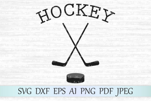Download Free Hockey Graphic By Magicartlab Creative Fabrica for Cricut Explore, Silhouette and other cutting machines.
