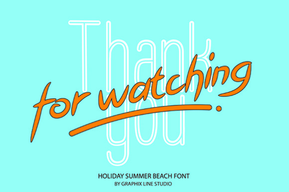 Print on Demand: Holiday Summer Beach Script & Handwritten Font By Graphix Line Studio - Image 11