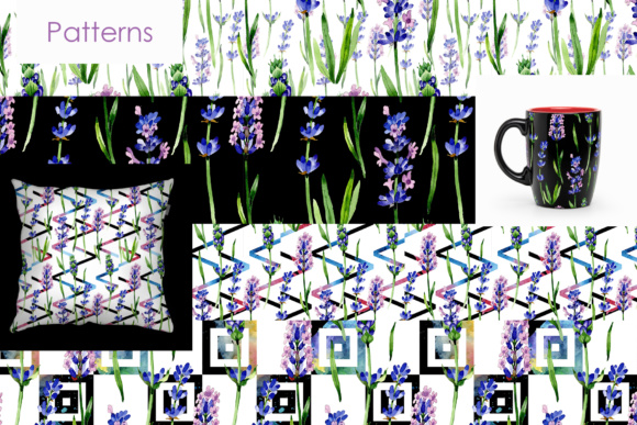 Print on Demand: Holiday Purple Lavender Flowers PNG Watercolor Set Graphic Illustrations By MyStocks - Image 4